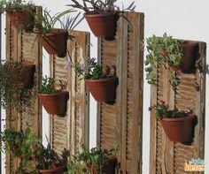 Mãos à obra: experimente reutilizar janelas antigas para criar jardins.