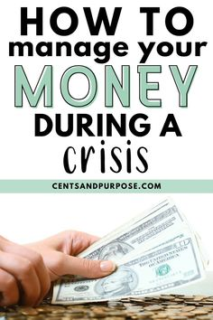 Managing your money during economic downturn can feel scary.this post offered actionable tips and steps to take to change your budget to find more money each month you can save for an emergency fund Budgeting Finances, Budgeting Tips, Wealth Management, Money Management, Money Tips, Money Saving Tips, Sinking Funds, Budget Binder, Thing 1