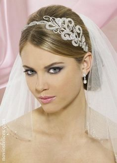 Wedding Hairstyles ~ Smooth pulled back hair~do with veil