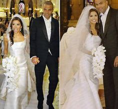 July 7th 2007:  The Desperate Housewives actress Eva Longoria and the basketball star Tony Parker married  in front of about 250 guests in a religious ceremony at the historic Church of Saint Germain l'Auxerrois.