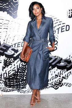 Fashion week's best dressed: Gabrielle Union in Wes Gordon and Alexandre Birman shoes at Gordon's Spring 2016 show.