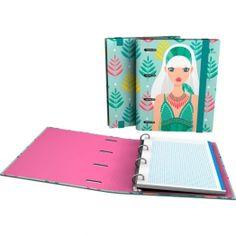 """CarpeBook DIN-A5 Archivador de la nueva colección Noa 2017 en su serie """"Hojas"""".  #papeleria #materialescolar #materialdeoficina #Grafoplás #diseño #verde #chica"""