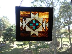 navajo stained glass window. $100.00, via Etsy.