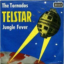 """Telstar"" is a 1962 instrumental record performed by The Tornados.   The song reached No. 1 on the U.S. Billboard Hot 100 in December 1962 (the second British recording to reach No. 1 on that chart in the year, after Stranger on the Shore in May), and was also a number one hit in the UK. It was the second instrumental single to hit No.1 on both the US and UK weekly charts"