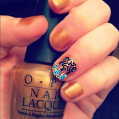 Sweet dreams :) dreamcatcher nail art