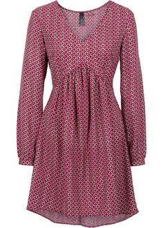 Kleid grün/rot bedruckt - RAINBOW jetzt im Online Shop von bonprix.de ab € 32,99 bestellen. Schönes Blusenkleid, mit angesagter Raffung, das gerade durch ...