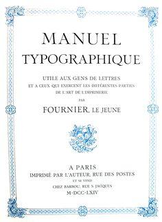 Fournier Le Jeune Manuel Typographique Cover 1764