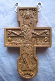 Boxwood pectoral cross by Jonathan Pageau