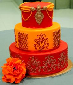 Happy Intimate Indian Wedding Cake | Indian Weddings: Cake by Soma Sengupta