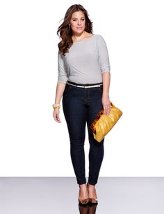 casual chic, clutch is great!