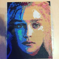 Khaleesi Daenerys Targaryen - Game of Thrones perler bead portrait by mr.perler