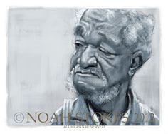 Fred Sanford You Big Dummy - Bing images Funny Caricatures, Celebrity Caricatures, Celebrity Portraits, Good Times Tv Show, Redd Foxx, Sanford And Son, Black Art Pictures, Caricature Drawing, Black Artists