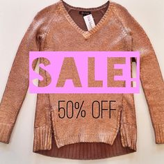Don't let this cold weather get you down ❄️ snuggle up with some of our favorite sweaters like this Ella Moss - Metallic Copper Pullover now 50% off!! (Originally $220) @Ella Moss #sale #brrrrrr #gold #shimmer #prettysweaters #kkbloomstyle