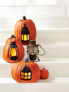 How to carve old-school lantern pumpkins.