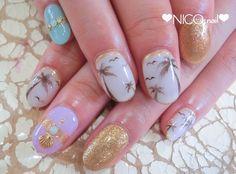 ❤お客様ネイル❤  サングラスネイル ポップネイル ヤシの木ネイル アート放題の画像 | NICONAILのブログ