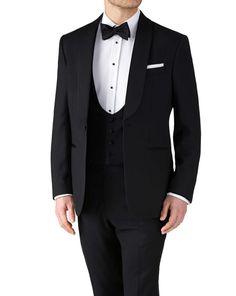 Charles Tyrwhitt Black classic fit shawl collar tuxedo jacket
