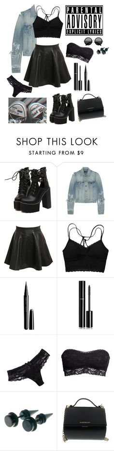 """Bad vibes // Harley //"" by keelhuds ❤ liked on Polyvore featuring WithChic, Yves Saint Laurent, Pilot, Marc Jacobs, Chanel, Chantelle, H&M and Givenchy"