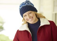 Zip-front jacket reverses from water-resistant nylon to plush Sherpa fleece Plus Size from Woman Within #giftsforher