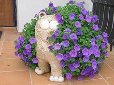 Garden Deco, Garden Art, Garden Design, Outdoor Planters, Outdoor Gardens, Outdoor Decor, Japanese Garden Backyard, Indoor Trees, Concrete Crafts