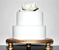 """Soporte de la torta de oro, 14"""" boda, nupcial, cumpleaños, Cupcake Display 24k oro!!!!"""