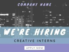 A modern Job Vacancy template with grey, blue, and purple text boxes, and white text. Boxes, How To Apply, Positivity, Templates, Purple, Grey, Modern, Gray, Crates