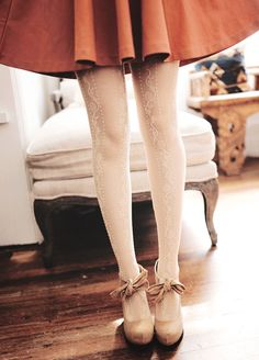 Skirt tights and shoes