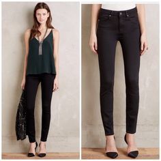 Paige Hoxton black skinny jeans Ultra skinny and currently online at anthropologie as an online exclusive! High rise. Offers welcome through offer tab. No trades. Paige Jeans Jeans Skinny