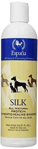 Espana Silk Specially Formulated Silk Protein Antiseptic Shampoo for Dogs and Cats, 16.91-Ounce ESP0115DC
