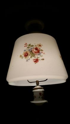 A Vintage Lampshade at our house in the dining room Vintage Lampshades, Dining Room, Lighting, House, Home Decor, Decoration Home, Home, Room Decor, Lights