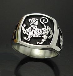 Chinese Zodiac Tiger Karate Ring Mens Sterling by ProLineDesigns, $165.00