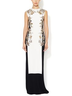 Bead Embellished Colorblock Gown by Reem Acra at Gilt