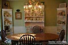 cottage dining room overview:  Becky Schultea at Just Bee 'n Me