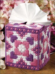 Plastic Canvas - Holiday & Seasonal Patterns - Valentine's Day Patterns - Pink & Purple Hearts
