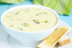 Broccoli Cheddar Soup With That Full Creamy Flavor, But Without All The Calories!