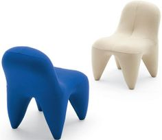 Tooth inspired chairs - they look so comfortable.
