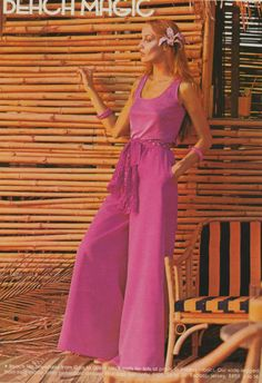 Jerry Hall jumpsuit for vogue 1975