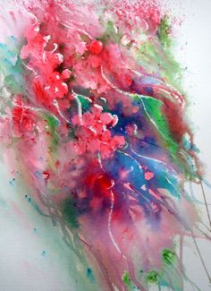 Winter Berries by Joanne Boon Thomas. This was painted with a powdered paint product called Brusho. Joanne is in the process of making a book and DVD giving away her Brusho secrets! For more infor visit BrushoSecrets.com