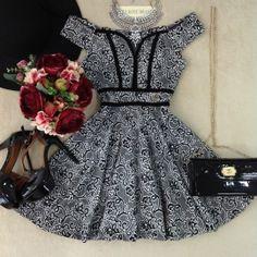 Vestido Princesa Luciane Jacquard C/BOJO( estampa Flowers Lude )