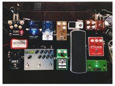 Joshua Tremonti's pedal board.