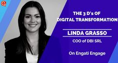 We're joined by COO of Digital Business Innovation, Linda Grasso. Linda where we discuss the 3 D's of Digital Transformation. Chief Operating Officer, Business Innovation, Keynote Speakers, Influencer Marketing, Human Resources, Workplace, 3 D, Knowledge, Management