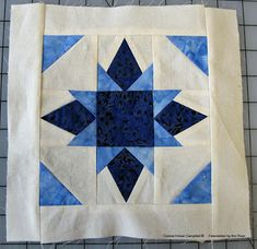 free Twinkle Stars quilt block pattern made with Island Batik fabrics
