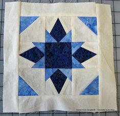 free Twinkle Stars quilt block pattern made with Island Batik fabrics