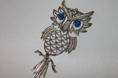 Silver Metal Hinged Owl Pendant Five Colors by SomeLoveItVintage, $5.00