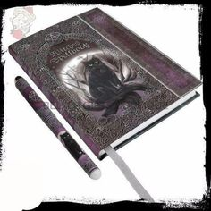 Journal Black Cat Diary & Pen Witches Spellbook Blank Wiccan Pagan Witchcraft in Books Pentacle, Cat Diary, Witch Spell Book, Pagan Witchcraft, Wiccan Altar, Celtic Patterns, Blank Book, Thing 1, Book Journal
