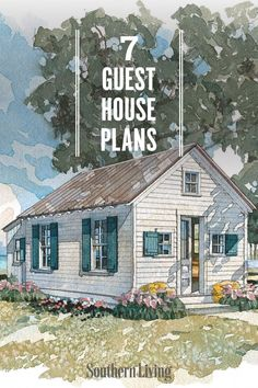 We've rounded up some of the dreamiest guest cottages from our Southern Living House Plans collection that provide all the comforts of a home away from home. #guesthouseplans #guesthouselayout #southernlivinghouseplans #southernliving Guest House Plans, Southern Living House Plans, Duck Hunting, Garden Sheds, Cozy Cottage, Home And Away, Simple Living, Tiny Homes, Cottages