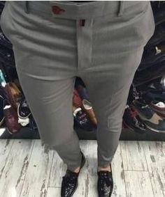 Men Pants, Italian Style Cotton Pants, Grey