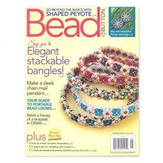 Magazine Bead & Button - Juin  2017 - en Anglais : Magazine américain sur les bijoux en perles. Tutoriels illustrés (avec
