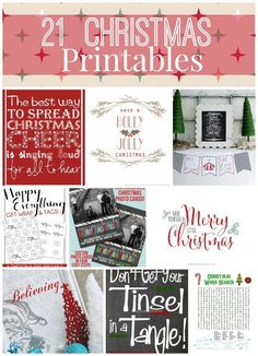 Christmas Printables are great to have on hand, they're free and you can print as many as you need! Pin them for later and you'll always have them! Pretty and Practical.