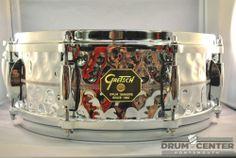 Gretsch USA Hammered Chrome Over Brass Snare Drum 5x14