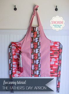 Free Tutorial: Father's Day BBQ Apron — SewCanShe | Free Daily Sewing Tutorials